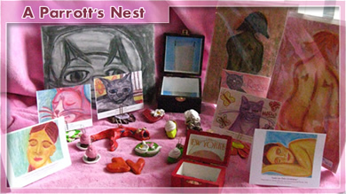 Local Portland Artist's website and blog. Painted Boxes, Dough & Other Art by Juliet Parrott